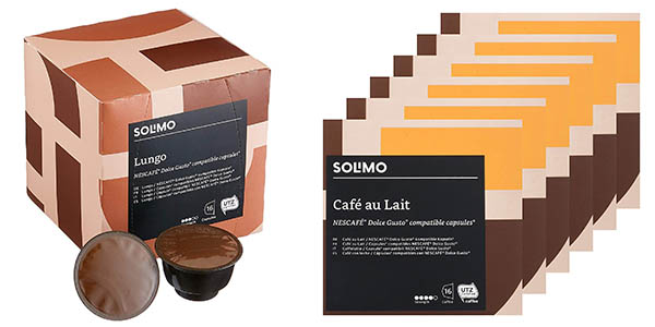 cápsulas de café compatibles con Dolce Gusto Amazon Solimo baratas