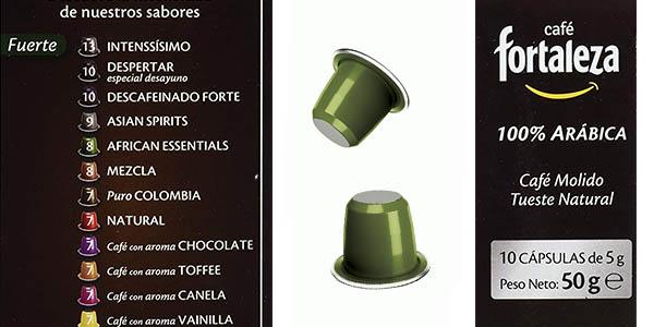 cápsulas de café Fortaleza African Essential sabor intenso oferta