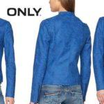 Chaqueta Biker Only AVA en color azul para mujer barata en Amazon