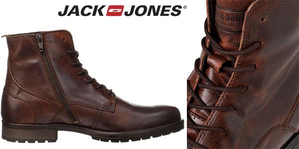 Botas Jack & Jones Jfworca de piel marrón para hombre baratas