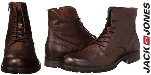 Chollo Botas Jack & Jones Jfworca de piel marrón para hombre