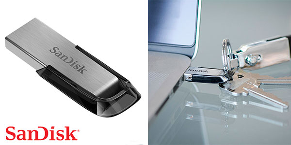 Chollo Memoria Flash SanDisk Ultra Flair USB 3.0 de 128 GB