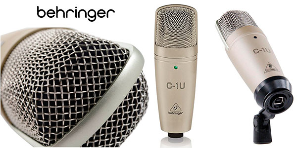 Chollo Micrófono Behringer C-1U USB de 136 dB para estudio