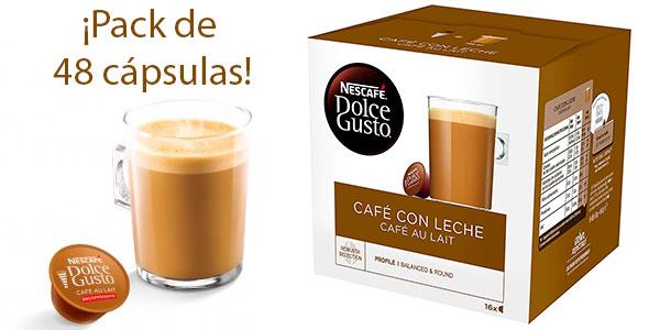 Chollo Pack de 48 cápsulas Café con leche Nestlé Dolce Gusto