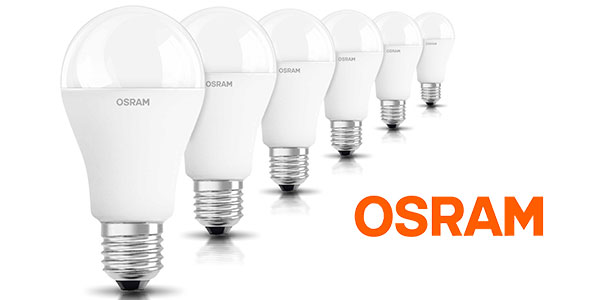 Chollo Pack de 6 bombillas LED Osram Classic de 14,5 W