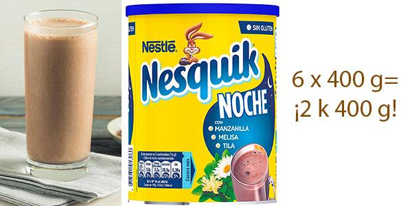 Chollo Pack de 6 latas de Nesquik Noche (400 g)