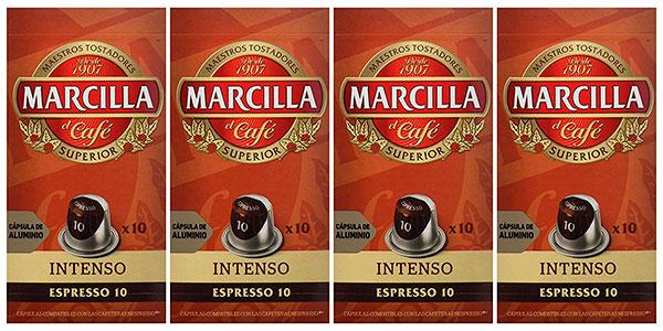 Chollo Pack de 40 cápsulas de café Marcilla Intenso para Nespresso