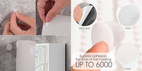 Pack de 900 puntos adhesivos de velcro barato