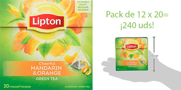 Chollo Pack de té verde Lipton con mandarina (240 uds)