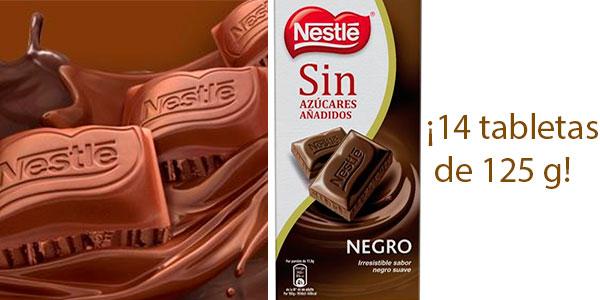 Chollo Pack de 14 tabletas de chocolate negro Nestlé 70% sin azúcar