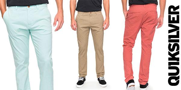 Chollo Pantalones chinos Quiksilver Krandy en varios colores para hombre