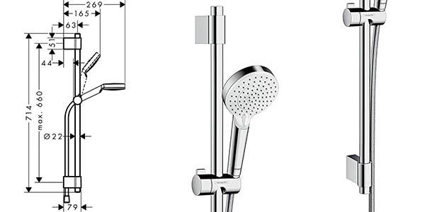 columna de ducha Hansgrohe Cometta Vario con relación calidad-precio genial