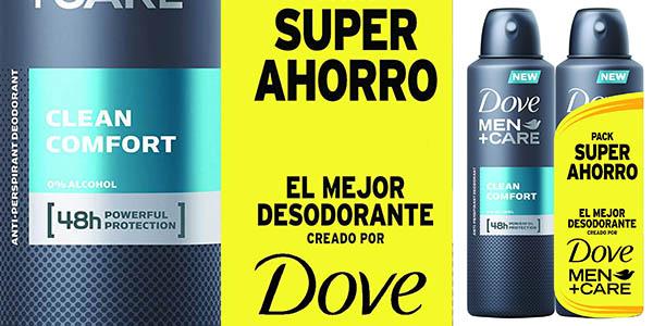 desodorante para hombre Dove Men Care spray sin alcohol barato