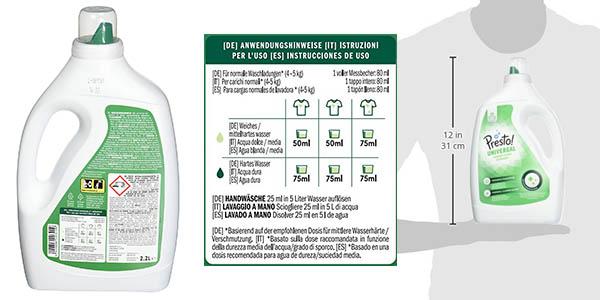 detergente líquido para ropa Presto! marca Amazon 176 dosis chollo