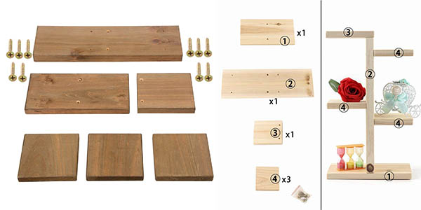 estantería de madera Jycra relación calidad-precio genial