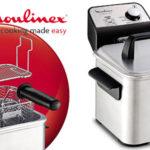 Freidora Moulinex Compact Pro AM322070 de acero inoxidable con termostato regulable barata en Amazon