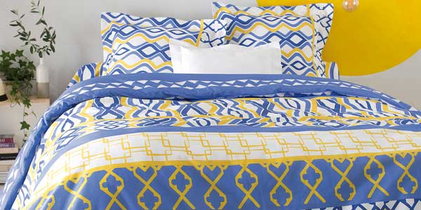 Funda nórdica + funda de almohada estampada en tejido 50% algodón hogar by Venca barata en eBay