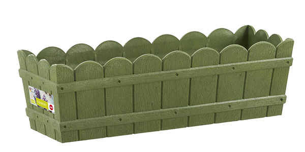 Jardinera rectangular Emsa Country de 50 x 17 x 15 cm verde chollo en Amazon