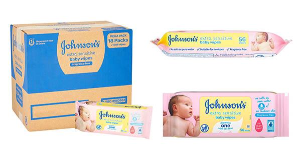 Johnson's Baby toallitas extra sensibilidad pack ahorro