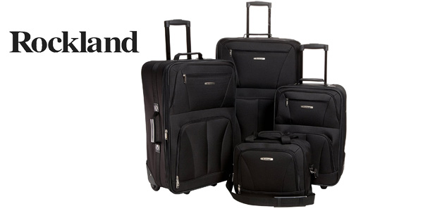 Juego de 4 maletas Rockland 4 PC Luggage Set en negro barato en Amazon