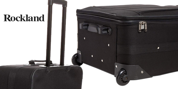 Juego de 4 maletas Rockland 4 PC Luggage Set en negro chollo en Amazon