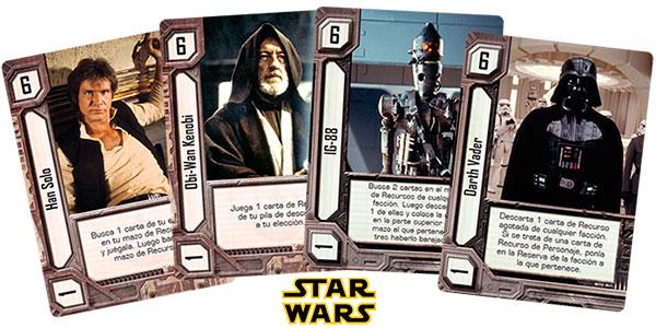 Juego de naipes Imperio vs Rebelión de Star Wars barato