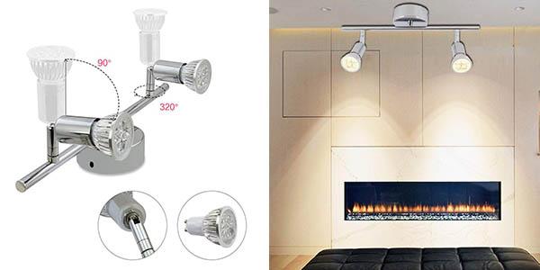 lampara de focos LED Vingo GU10 para iluminación de ambiente oferta