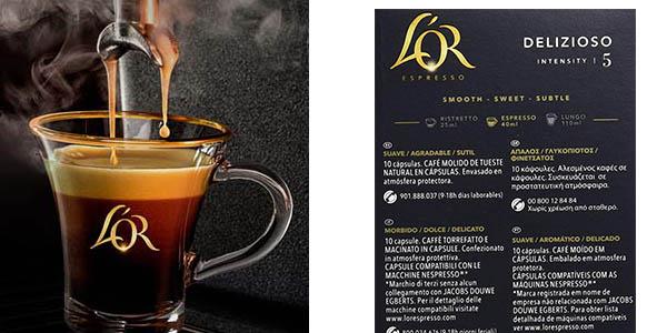 L'Or Espressi Delizioso cápsulas de café oferta