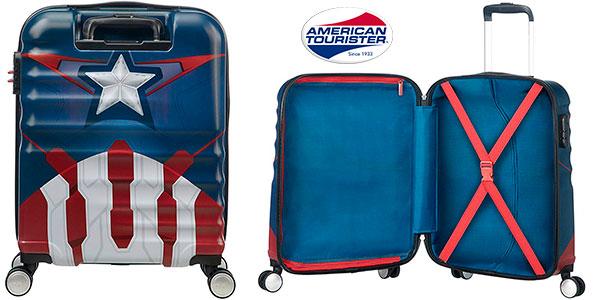 Maleta spinner American Tourister Capitán América de 36 litros barata