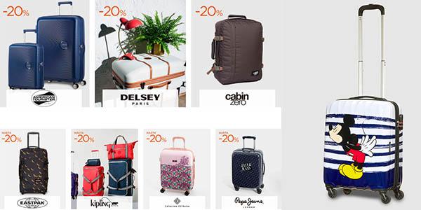 maletas y trolleys de primeras marcas rebajadas El Corte Inglés 8 Días de Oro