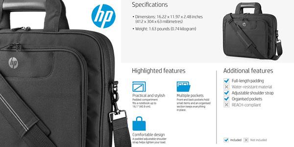 """Maletín para portátil HP Value QB681AA para ordenadores de hasta 16"""" chollo en Amazon"""
