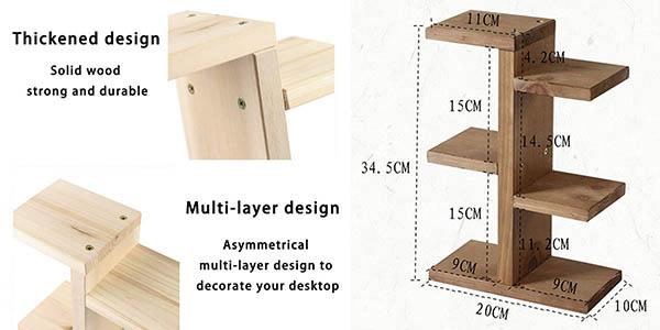 mini estantería de madera para decoración Jycra oferta