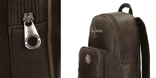 mochila para portátil de diseño en cuero de imitación Pepe Jeans Duetone en oferta