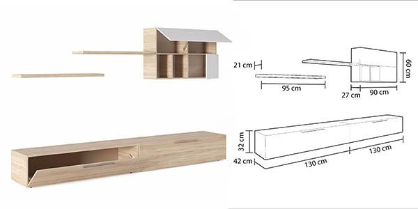 mueble de comedor con módulos componibles DueHome Antara oferta