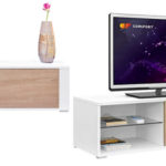 Mueble para TV Comifort TV80B disponible en blanco, roble o combinado barato en Amazon