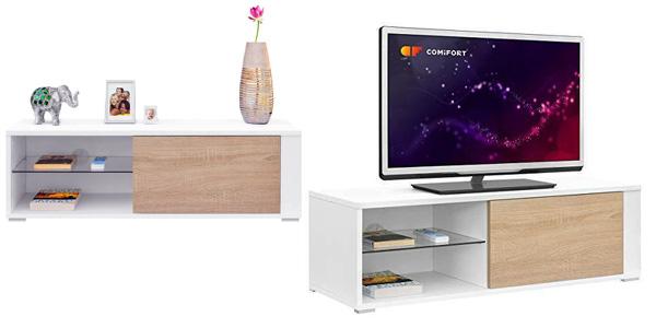 Mueble para TV Comifort TV80B disponible en blanco, roble o combinado barato en Amazon