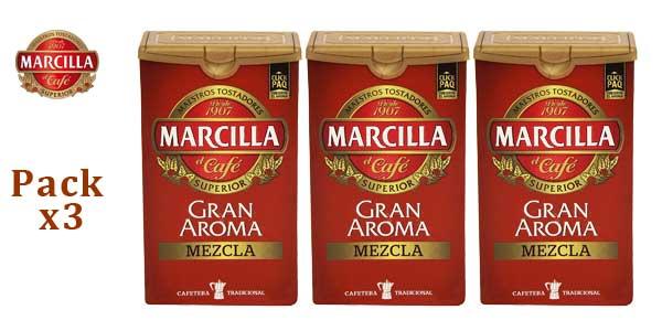 Pack x3 Café molido Marcilla gran aroma mezcla barato en Amazon