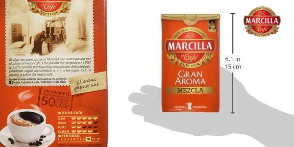 Pack x3 Café molido Marcilla gran aroma mezcla chollo en Amazon
