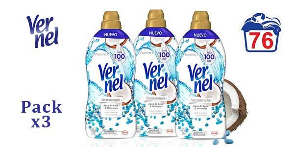 Pack x3 Suavizante Concentrado Vernel Aromaterapia Agua de Coco & Minerales barato en Amazon