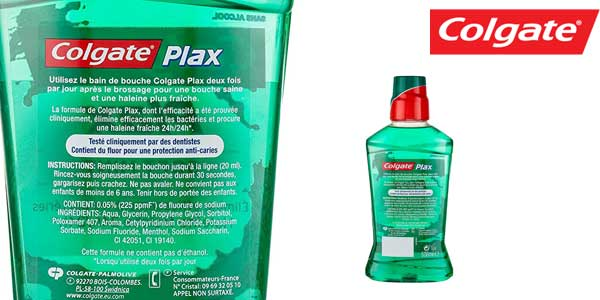 Pack x4 Enjuague bucal Colgate plax suave verde menta barato en Amazon