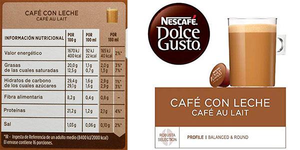 Pack de 48 cápsulas Café con leche Nestlé Dolce Gusto barato