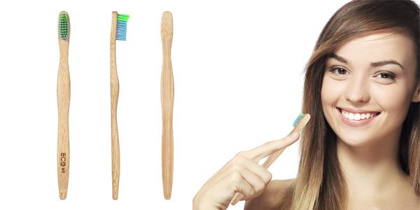 Pack de 5 cepillos de dientes de bambú ECOet chollo en Amazon