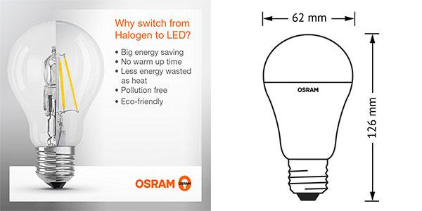Pack de 6 bombillas LED Osram Classic de 14,5W barato