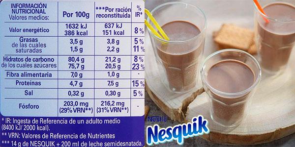 Pack de 6 latas de Nesquik Noche (400 g) barato