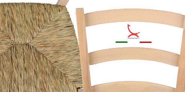 Set de 6 sillas de estilo clásico Paesana 32 by Tommychairs en madera natural de haya chollazo en Amazon