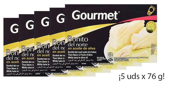 Pack de 5 latas de bonito Gourmet en aceite de oliva al mejor precio