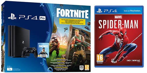 PlayStation 4 Pro 1 TB+ Fortnite + Spider-man