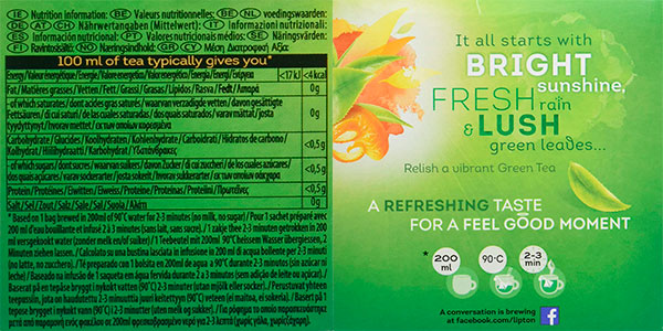 Pack de té verde Lipton con mandarina (240 uds) barato