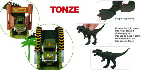 Pista coches flexible Tonze tipo Jurassic Park chollazo en Amazon