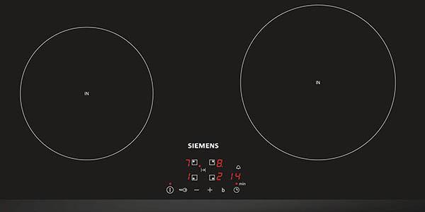 placa de cocina inducción Siemens 4 elementos calor chollo